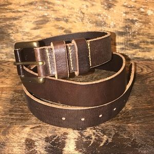 Eddie Bauer Sportsman Dark Brown Leather Belt